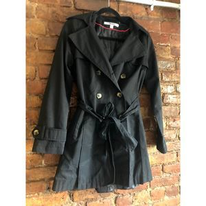 DKNY 'Abby' Double Breasted Trench